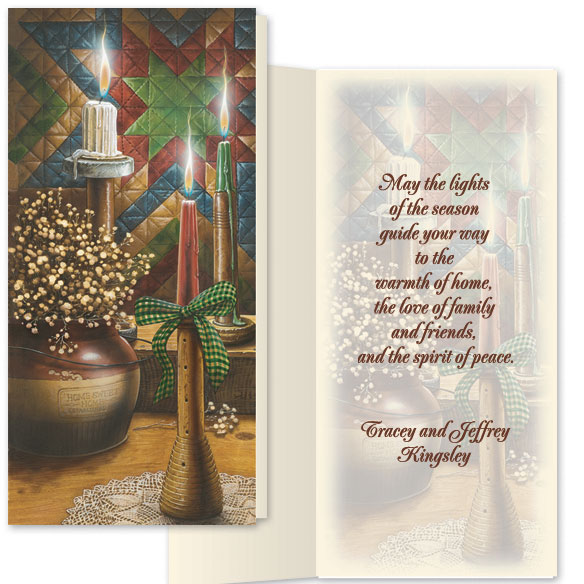Candlelight Christmas Card Set/20