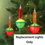 Decorations & Storage - Replacement Bubble Lights - Set Of 3