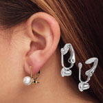 Jewelry & Accessories - Clip On Earrings Converters - 6 Pairs