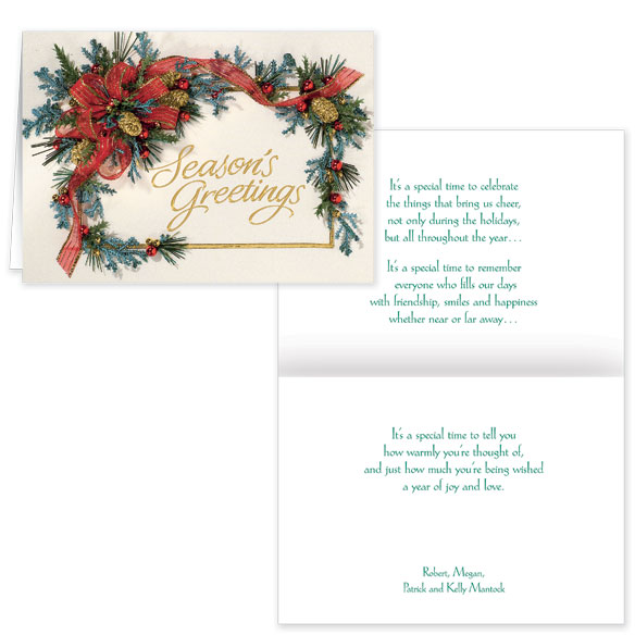 Personalized Seasons Greetings Cards - View 1