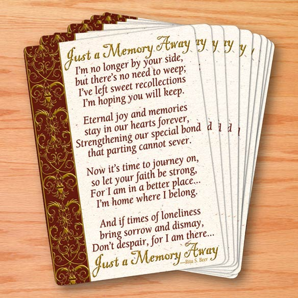 Memorial Wallet Cards - Set Of 25 - View 1