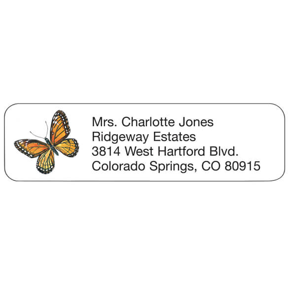 Butterfly Personalized Address Labels