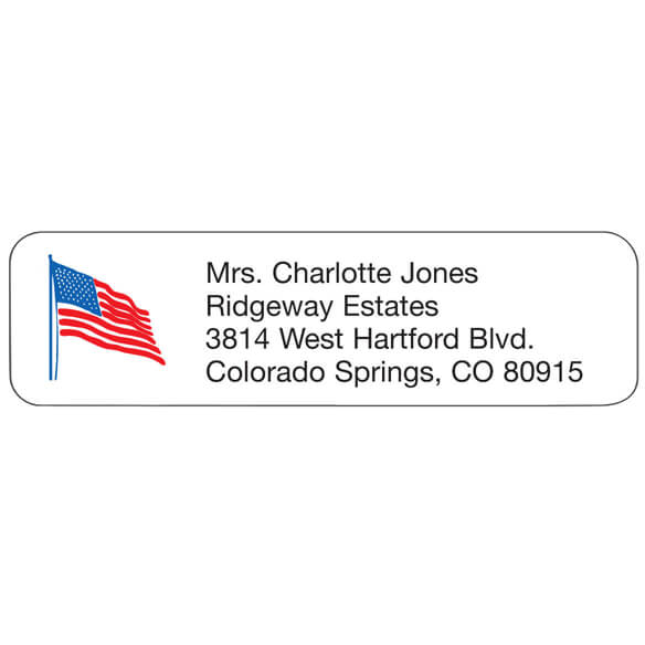Flag Personalized Address Labels