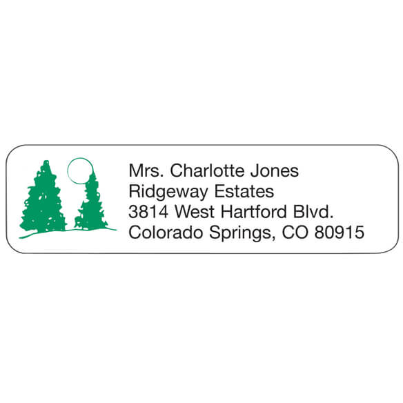 Pine Tree Personalized Address Labels