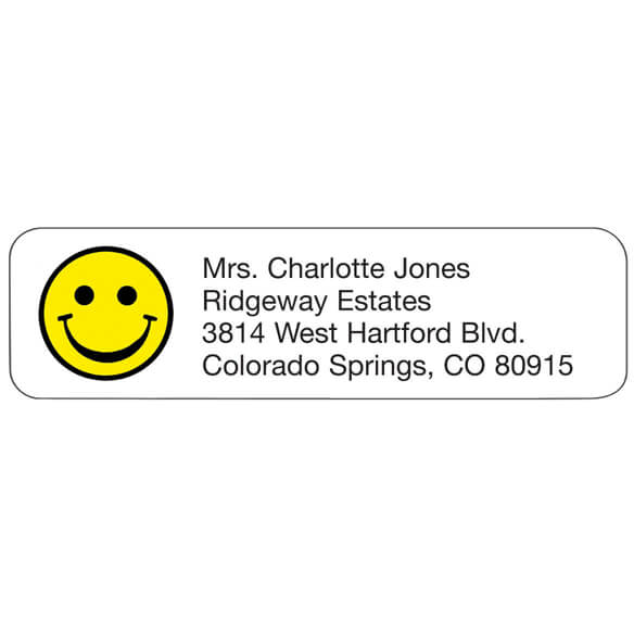 Smiley Face Personalized Address Labels