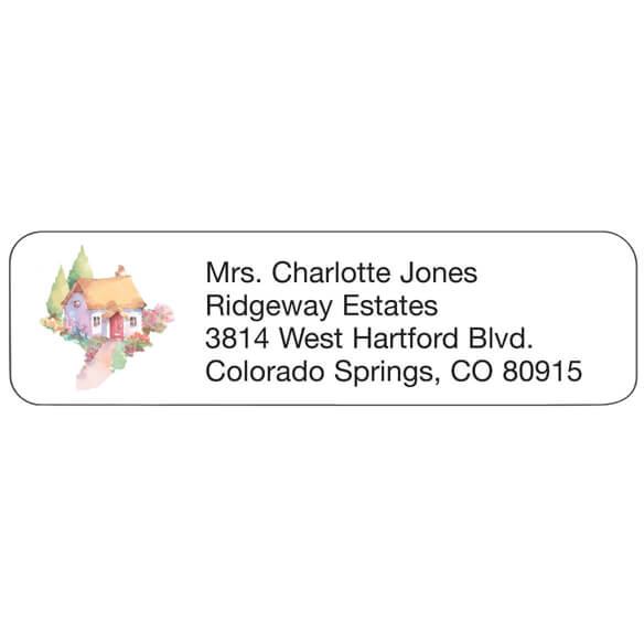 Cottage Personalized Address Labels