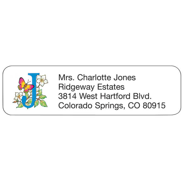 Floral Personalized Address Labels - Set Of 200
