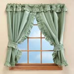 "New - 70""W x 45""H Bathroom Window Curtains"