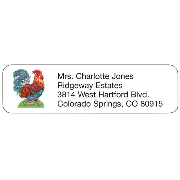 Rooster Personalized Address Labels