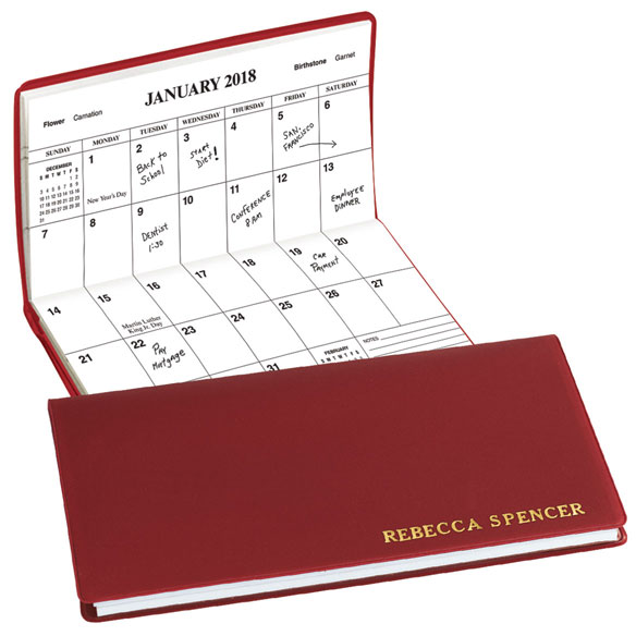 Burgundy Personalized 2 Year Pocket Planner
