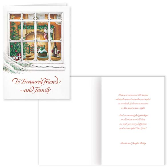 Treasured Friends Christmas Card Set of 20