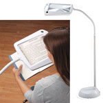Home Lighting - Lighted Full Page Magnifier Lamp