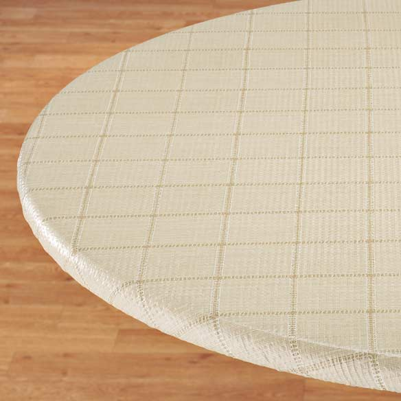 Woven Lattice Elasticized Table Cover - View 1