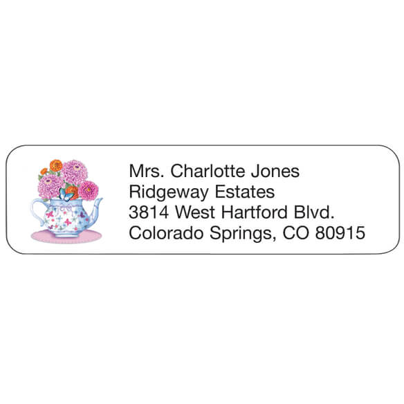 Teapot Personalized Address Labels