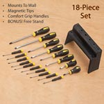 18 Piece Screwdriver Set with Bonus Stand