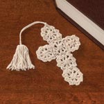 Books & Videos - Crocheted Cross Bookmarks - Set of 10