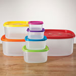Food Storage - Multi-Colored Storage Containers - Set of 7