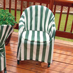 Outdoor Décor - Striped Patio Chair Cover with Cushion