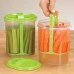 Food Storage - Two-Section Veggie Holder