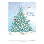 Christmas Cards - God Grew the Tree Personalized Christmas Card - Set of 20
