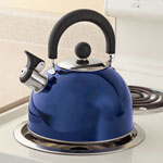 Bakeware & Cookware - Blue Whistling Tea Kettle by Home-Style Kitchen
