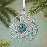 Decorations & Storage - Peace on Earth Pewter Ornament