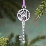 Decorations & Storage - The Key to Joy Pewter Ornament
