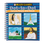 Books & Videos - Brain Games® Famous People Dot-to-Dot Puzzle Book
