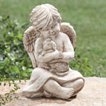 Pets - Angel with Dog Memorial Statue