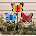 New - Resin Butterfly Planter Stakes by Maple Lane Creations™, Set of 3