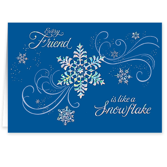 Personalized Snowflake Christmas Cards - View 2
