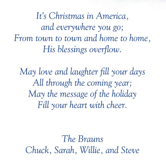 God Bless America Christmas Card Set of 20 - View 4