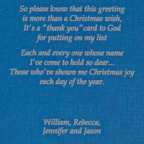 Personalized Religious Christmas Cards - View 4