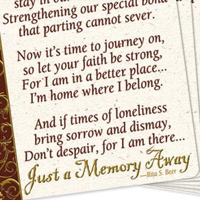 Memorial Wallet Cards - Set Of 25 - View 3