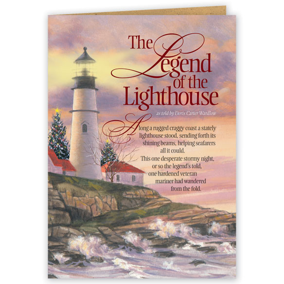 Lighthouse Legend Christmas Card Set of 20 - View 2