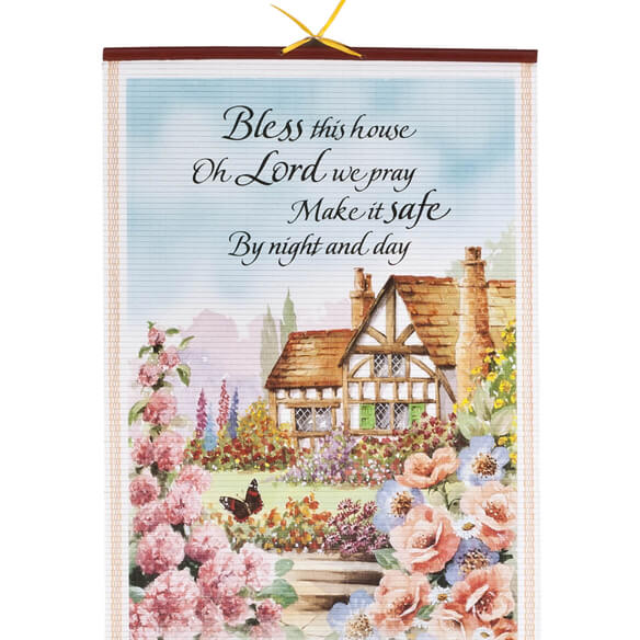 Bless This House Wall Scroll Calendar - View 2
