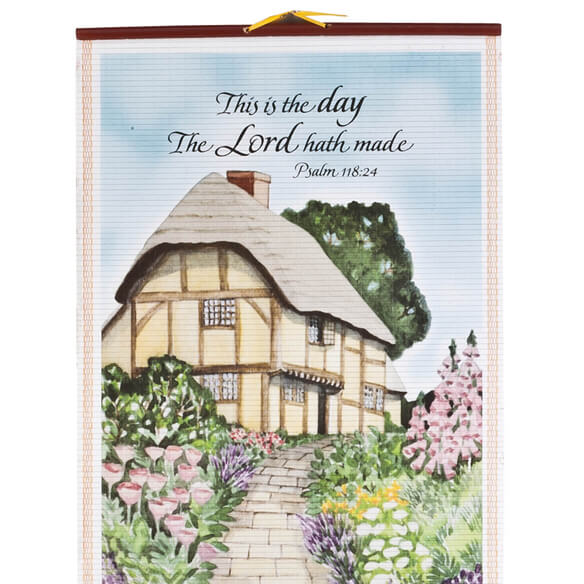 Bless This House Wall Scroll Calendar - View 4
