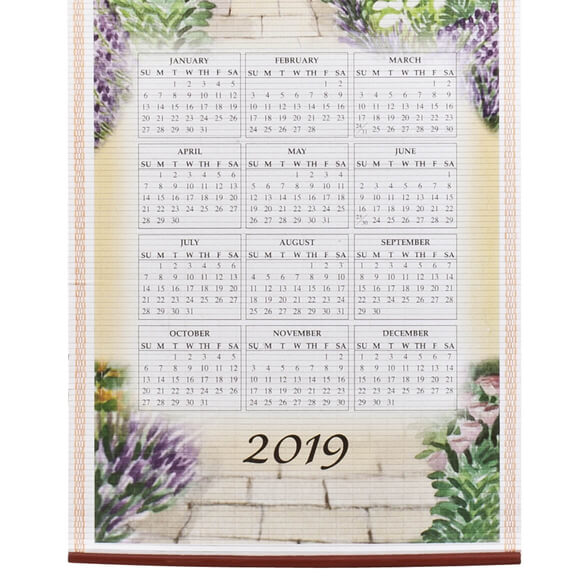Bless This House Wall Scroll Calendar - View 5