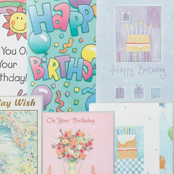 Assorted Birthday Cards - Set Of 24 - View 3