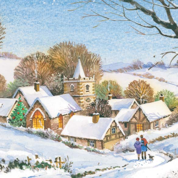 Peaceful Village Christmas Card - Set of 20 - View 4