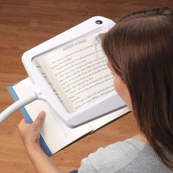 Lighted Full Page Magnifier Lamp - View 2