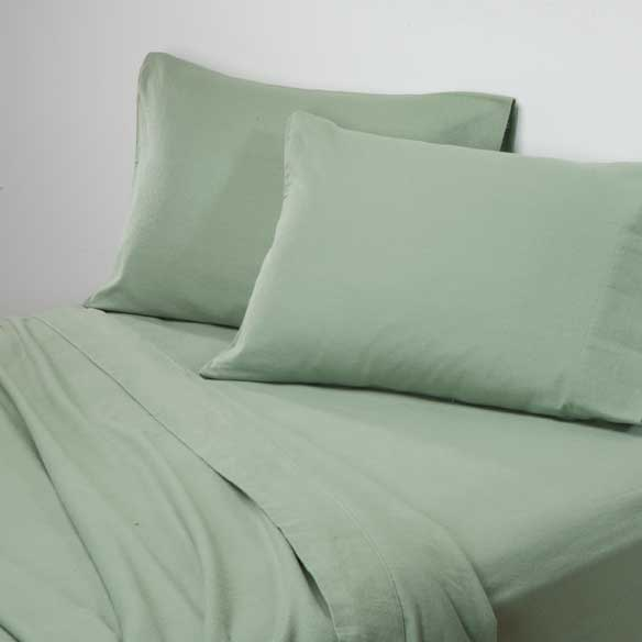 Solid Flannel Sheets - View 5