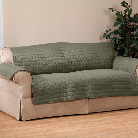 Microfiber Loveseat Protector by OakRidge Comforts™ - View 3