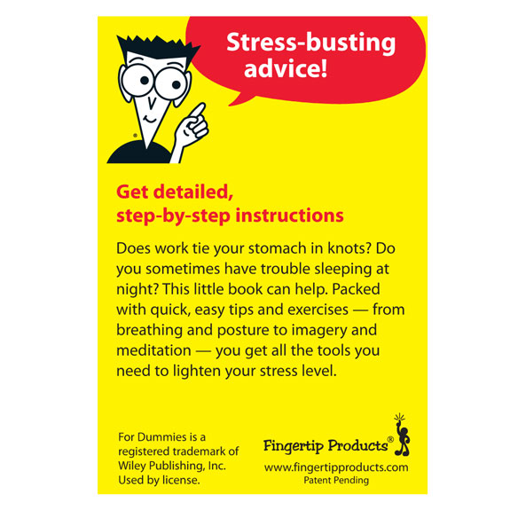 Stress Management Refrigerator Magnet Book For Dummies® - View 2